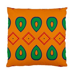 Rhombus And Leaves                                                                	standard Cushion Case (two Sides) by LalyLauraFLM