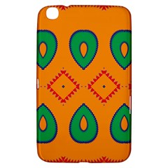 Rhombus And Leaves                                                                			samsung Galaxy Tab 3 (8 ) T3100 Hardshell Case by LalyLauraFLM