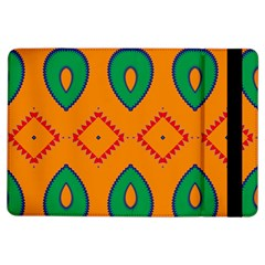 Rhombus And Leaves                                                                			apple Ipad Air Flip Case by LalyLauraFLM