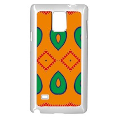 Rhombus And Leaves                                                                			samsung Galaxy Note 4 Case (white) by LalyLauraFLM