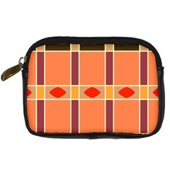 Shapes And Stripes                                                                 	digital Camera Leather Case by LalyLauraFLM