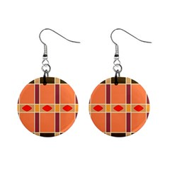 Shapes And Stripes                                                                 			1  Button Earrings by LalyLauraFLM