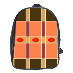 Shapes And Stripes                                                                 			school Bag (large) by LalyLauraFLM
