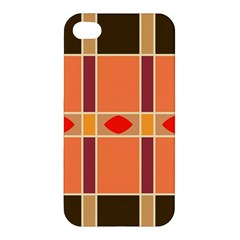 Shapes And Stripes                                                                 			apple Iphone 4/4s Premium Hardshell Case