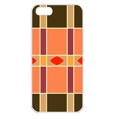 Shapes And Stripes                                                                 			apple Iphone 5 Seamless Case (white) by LalyLauraFLM