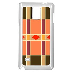 Shapes And Stripes                                                                 			samsung Galaxy Note 4 Case (white) by LalyLauraFLM