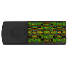 Paint Bricks                                                                 			usb Flash Drive Rectangular (4 Gb) by LalyLauraFLM