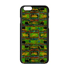 Paint Bricks                                                                 			apple Iphone 6/6s Black Enamel Case by LalyLauraFLM