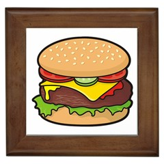 Cheeseburger Framed Tiles by sifis