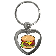 Cheeseburger Key Chains (heart)  by sifis