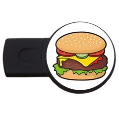 Cheeseburger Usb Flash Drive Round (4 Gb)  by sifis
