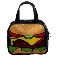 Cheeseburger Classic Handbags (2 Sides) by sifis