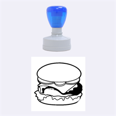 Cheeseburger Rubber Round Stamps (medium) by sifis