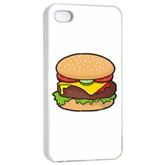 Cheeseburger Apple Iphone 4/4s Seamless Case (white) by sifis