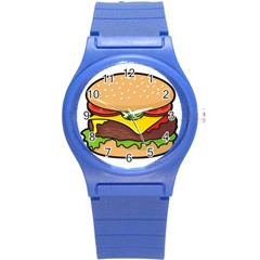 Cheeseburger Round Plastic Sport Watch (s)