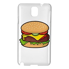 Cheeseburger Samsung Galaxy Note 3 N9005 Hardshell Case by sifis