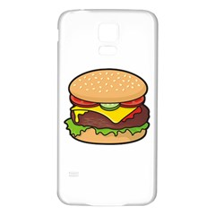 Cheeseburger Samsung Galaxy S5 Back Case (white) by sifis