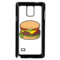 Cheeseburger Samsung Galaxy Note 4 Case (black) by sifis