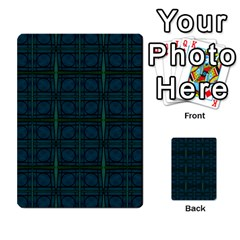 Dark Blue Teal Mod Circles Multi Purpose Cards (rectangle)  by BrightVibesDesign