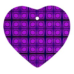Bright Pink Mod Circles Ornament (heart)  by BrightVibesDesign