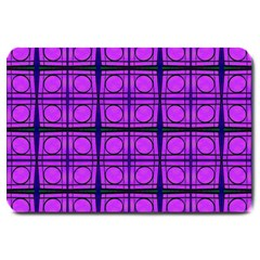 Bright Pink Mod Circles Large Doormat  by BrightVibesDesign