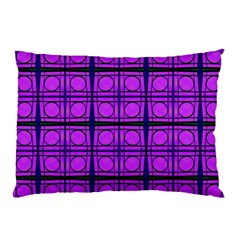 Bright Pink Mod Circles Pillow Case by BrightVibesDesign