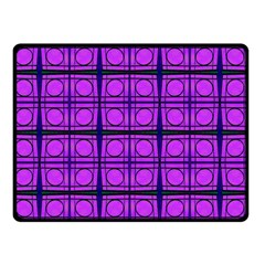 Bright Pink Mod Circles Double Sided Fleece Blanket (small)  by BrightVibesDesign