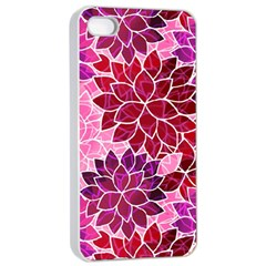 Rose Quartz Flowers Apple Iphone 4/4s Seamless Case (white) by KirstenStar