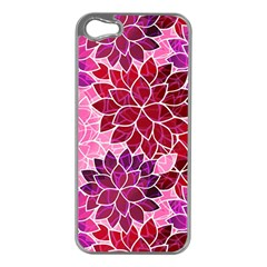 Rose Quartz Flowers Apple Iphone 5 Case (silver) by KirstenStar