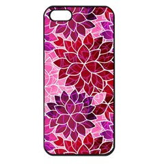 Rose Quartz Flowers Apple Iphone 5 Seamless Case (black) by KirstenStar
