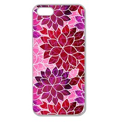 Rose Quartz Flowers Apple Seamless Iphone 5 Case (clear) by KirstenStar