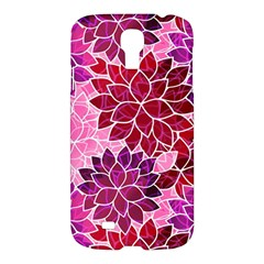 Rose Quartz Flowers Samsung Galaxy S4 I9500/i9505 Hardshell Case by KirstenStar