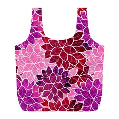 Rose Quartz Flowers Full Print Recycle Bags (l)  by KirstenStar