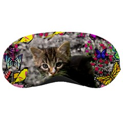 Emma In Butterflies I, Gray Tabby Kitten Sleeping Masks by DianeClancy