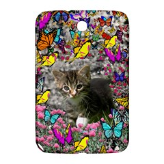 Emma In Butterflies I, Gray Tabby Kitten Samsung Galaxy Note 8 0 N5100 Hardshell Case  by DianeClancy