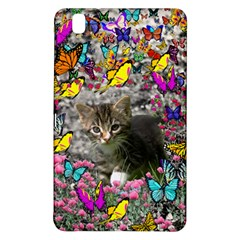 Emma In Butterflies I, Gray Tabby Kitten Samsung Galaxy Tab Pro 8 4 Hardshell Case by DianeClancy