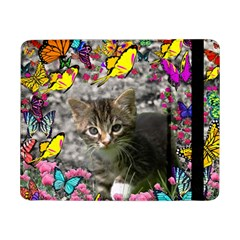 Emma In Butterflies I, Gray Tabby Kitten Samsung Galaxy Tab Pro 8 4  Flip Case by DianeClancy