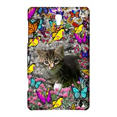 Emma In Butterflies I, Gray Tabby Kitten Samsung Galaxy Tab S (8 4 ) Hardshell Case  by DianeClancy