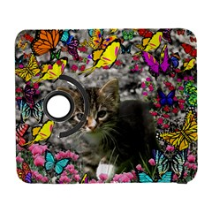 Emma In Butterflies I, Gray Tabby Kitten Samsung Galaxy S  Iii Flip 360 Case by DianeClancy
