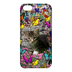 Emma In Butterflies I, Gray Tabby Kitten Apple Iphone 5c Hardshell Case by DianeClancy
