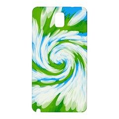 Tie Dye Green Blue Abstract Swirl Samsung Galaxy Note 3 N9005 Hardshell Back Case by BrightVibesDesign