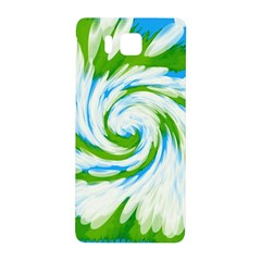 Tie Dye Green Blue Abstract Swirl Samsung Galaxy Alpha Hardshell Back Case by BrightVibesDesign