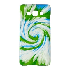 Tie Dye Green Blue Abstract Swirl Samsung Galaxy A5 Hardshell Case  by BrightVibesDesign