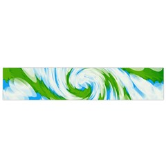 Tie Dye Green Blue Abstract Swirl Flano Scarf (small) by BrightVibesDesign
