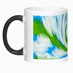 Tie Dye Green Blue Abstract Swirl Morph Mugs by BrightVibesDesign