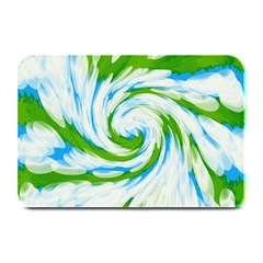 Tie Dye Green Blue Abstract Swirl Plate Mats by BrightVibesDesign