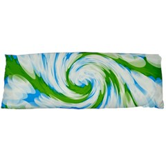 Tie Dye Green Blue Abstract Swirl Body Pillow Case Dakimakura (two Sides) by BrightVibesDesign