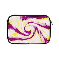 Tie Dye Pink Yellow Abstract Swirl Apple Ipad Mini Zipper Cases by BrightVibesDesign