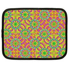 Modern Colorful Geometric Netbook Case (xxl)  by dflcprints