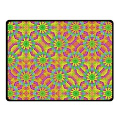 Modern Colorful Geometric Double Sided Fleece Blanket (small)